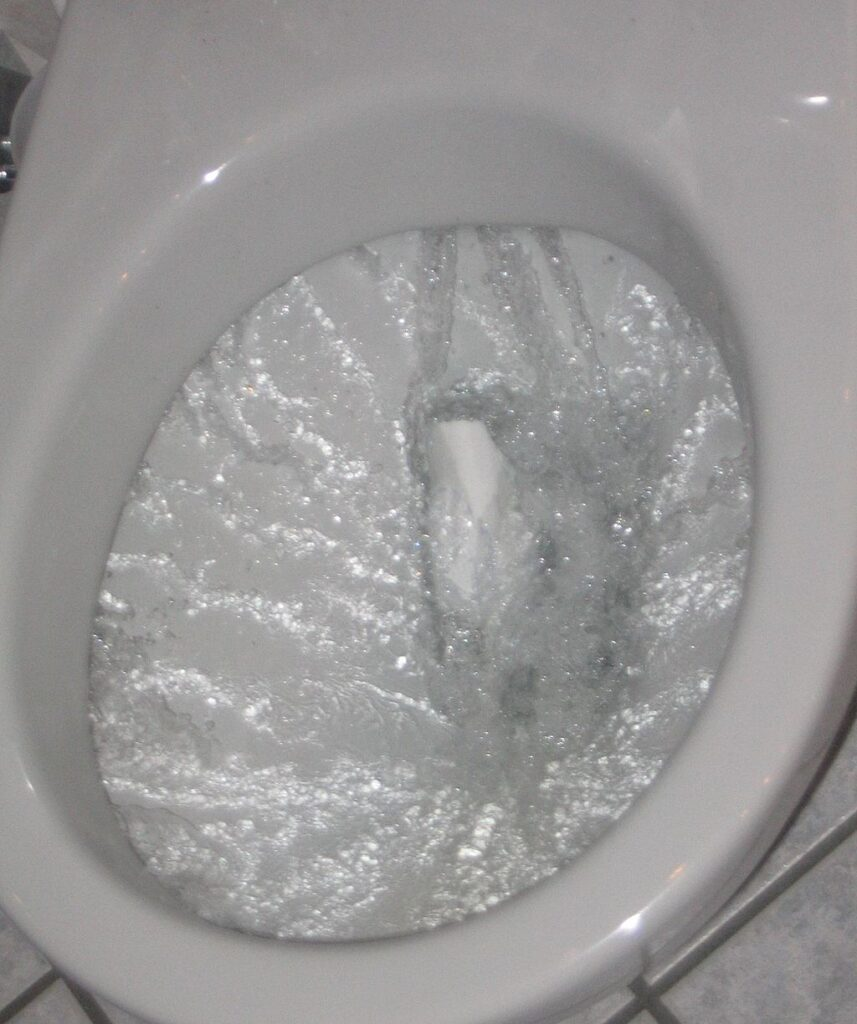 bathtub drain gurgles when toilet is flushed
